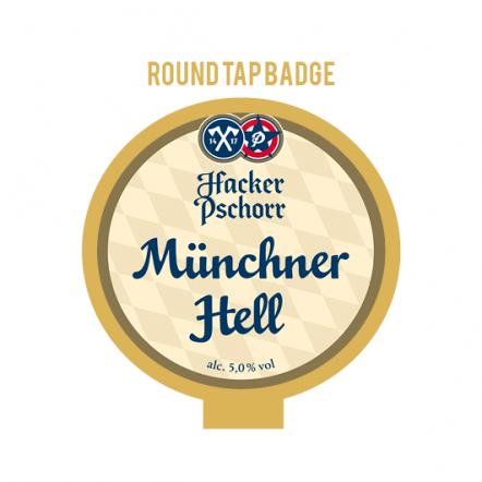 Hacker-Pschorr Munich Hell Tap Badge