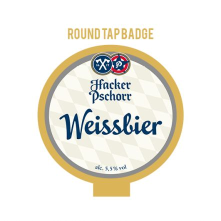Hacker-Pschorr Weiss Tap Badge