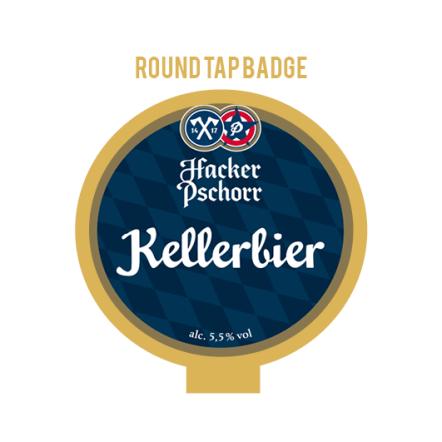 Hacker-Pschorr Keller Tap Badge