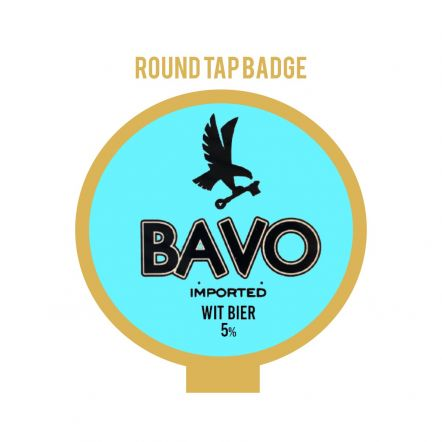 Huyghe Bavo Wit Tap Badge