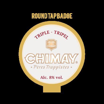 Chimay WHITE Tap Badge