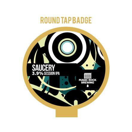 Magic Rock Saucery Tap Badge
