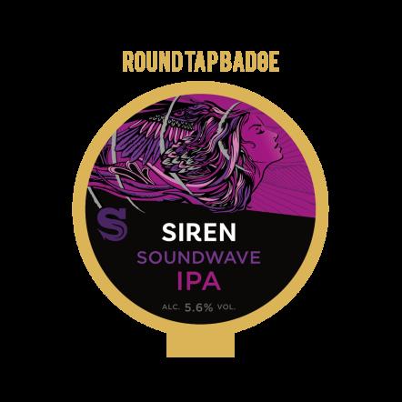 Siren Sound Wave Tap Badge